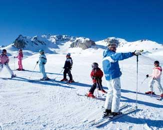 Ski School childrens lessons photograph