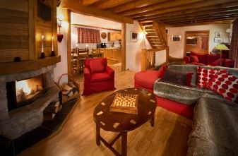 Meribel Village catered chalet Tourterelle lounge