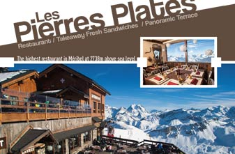 Meribel Mountain Restaurants - Les Pierre Plats