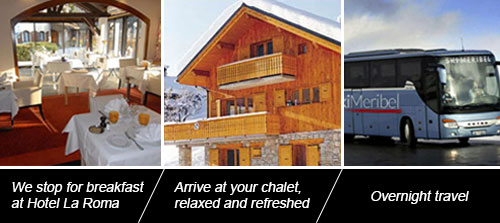 Ski Meribel Travel Outward Journey