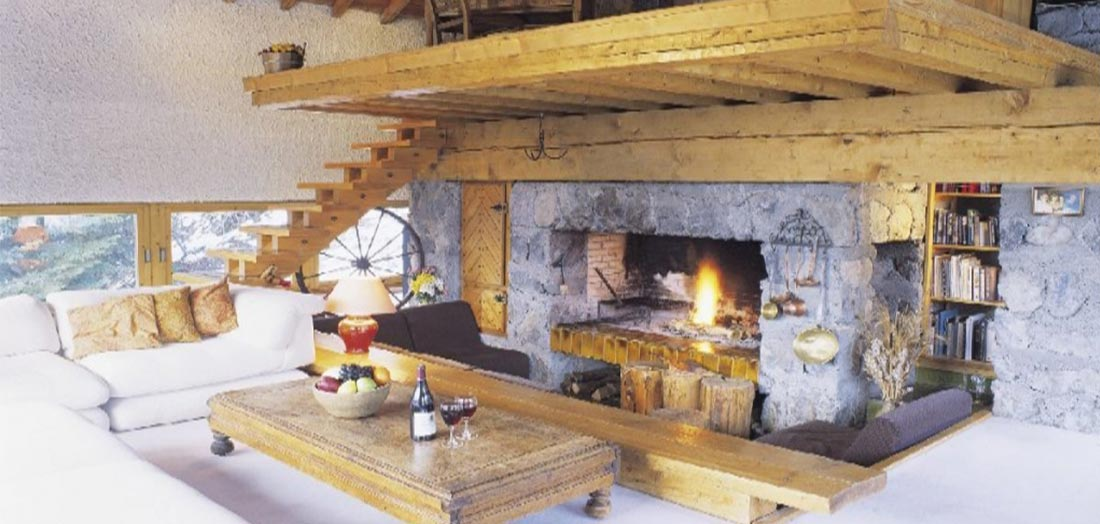 Meribel self catered chalets - Palandger lounge