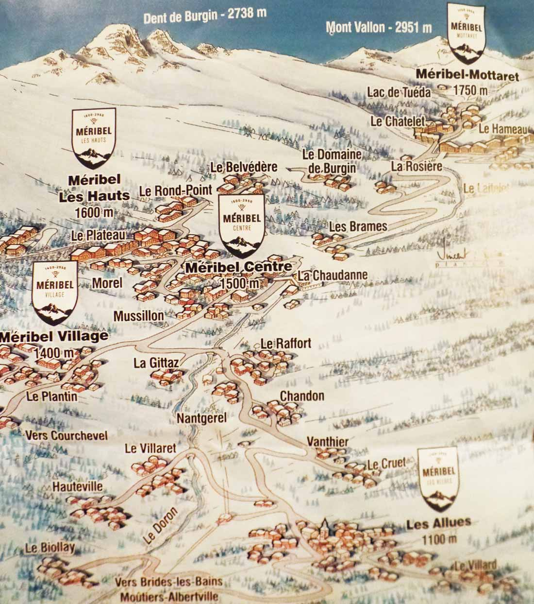 Meribel Road Map