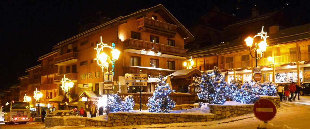 Meribel Town Centre At Night
