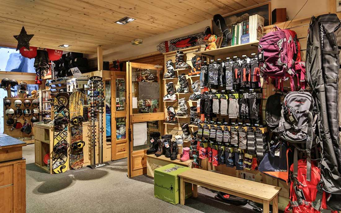Snowboard Shop Inside view