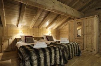 Meribel Chalets - Chalet Blanche twin bedroom