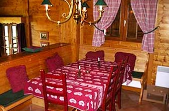 Meribel self catered chalets - Chalet Tarine Dining