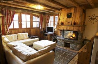 Meribel ctaered chalet 3 bedrooms - chalet sabaudia lounge