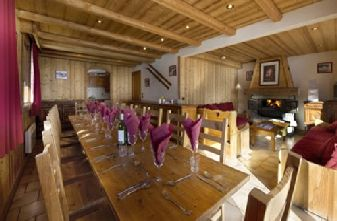 Meribel catered chalets 7 bedrooms - Chalet Cote Darlin Dining