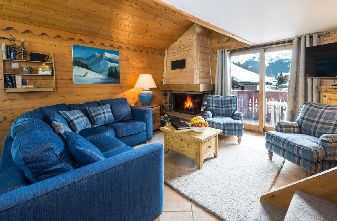 self catered meribel village chalets - chalet chamois lounge