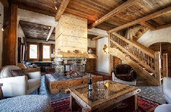 Self catered chalets Meribel Raffort - Chalet Ruisseau lounge
