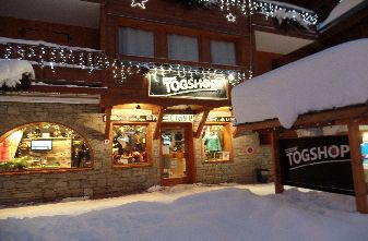 Togshop Snowboard shop outside view