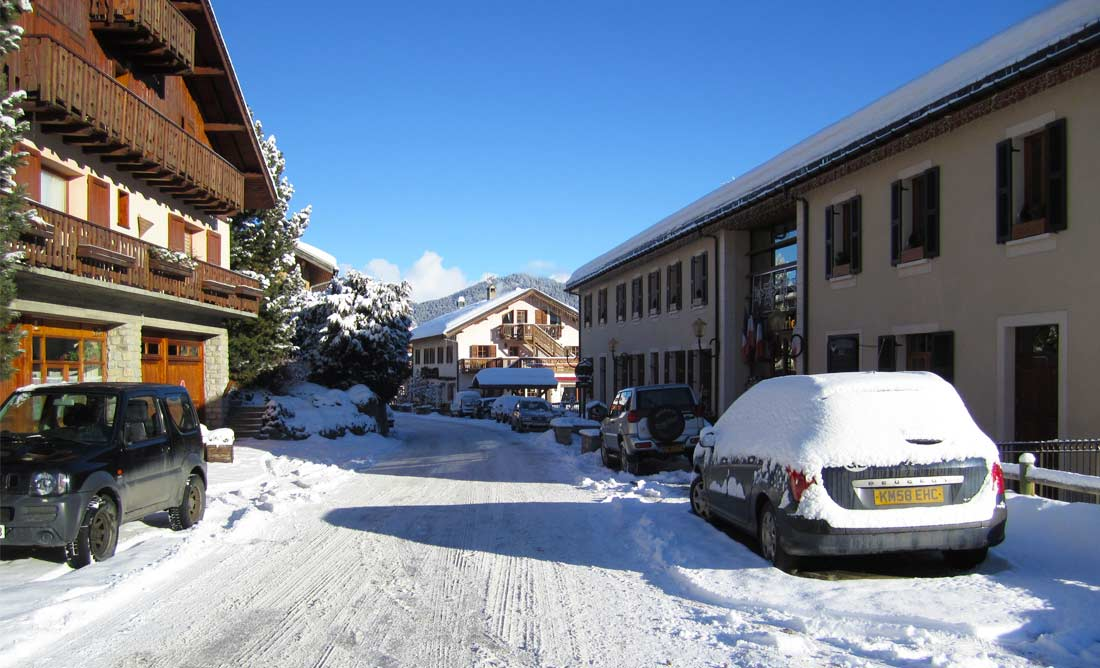 Meribel Les Allues Village In Snow