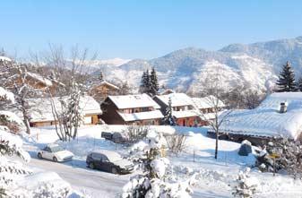 Les Allues in snow
