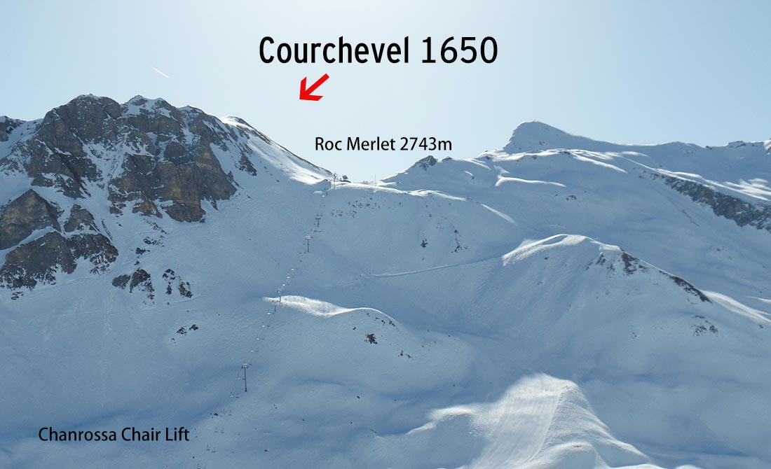 chanrossa chair lift to Courchevel 1650