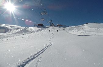 Off piste skiing April 14th 2016
