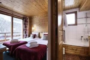 chalet-brenettes-meribel-centre-bedroom