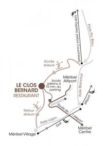 Le Clos Bernard Map
