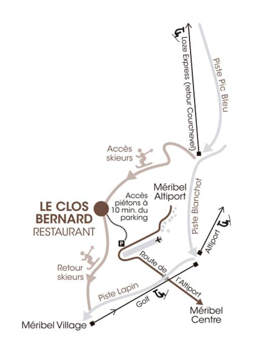 Le Clos Bernard Map